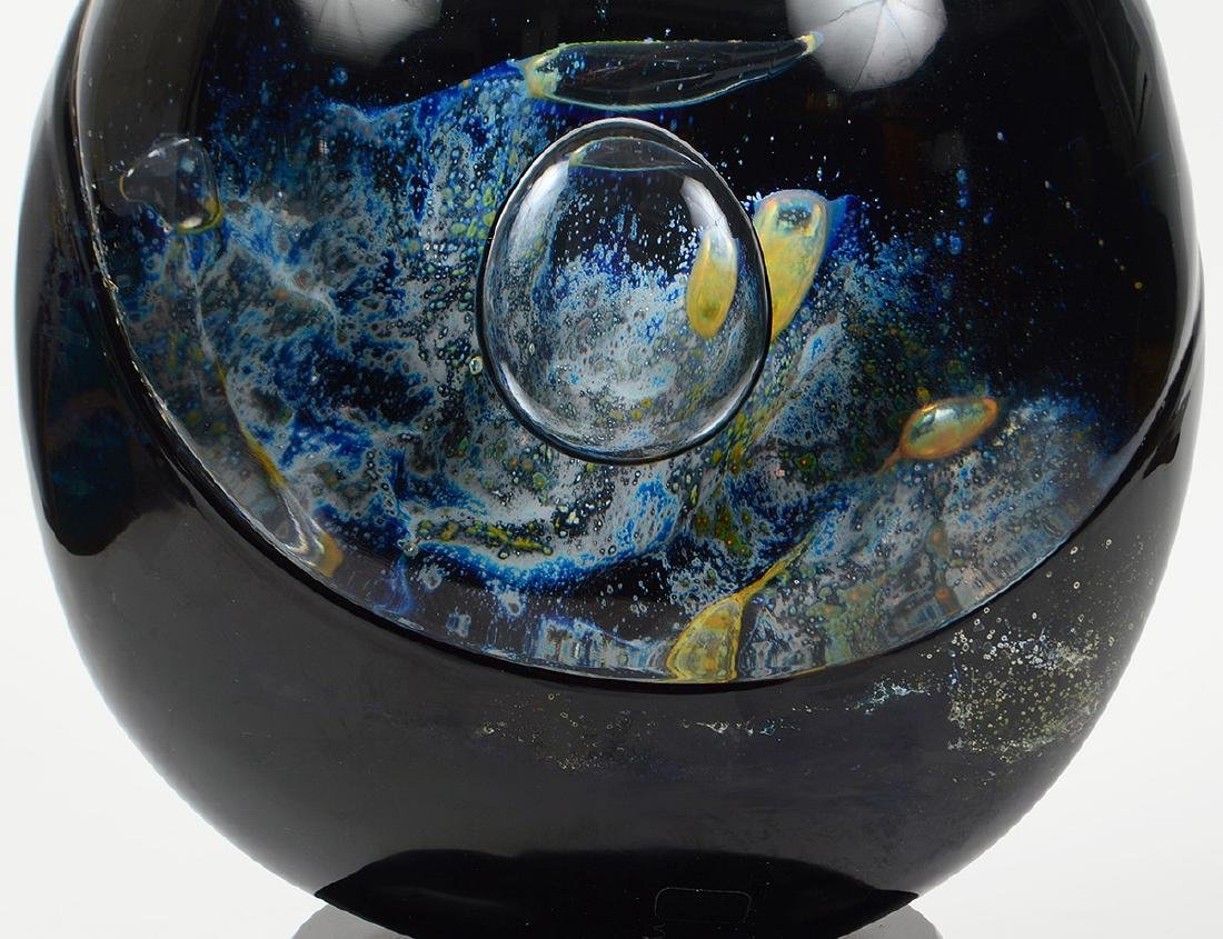 "DINO ROSIN ""PIANETA"" ART GLASS SCULPTURE - 2"