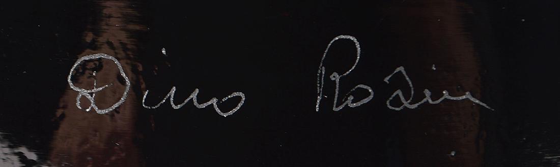 "DINO ROSIN ""PIANETA"" ART GLASS SCULPTURE - 7"