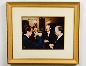 AUTOGRAPHED PHOTOGRAPH OF FOUR AMERICAN PRESIDENTS