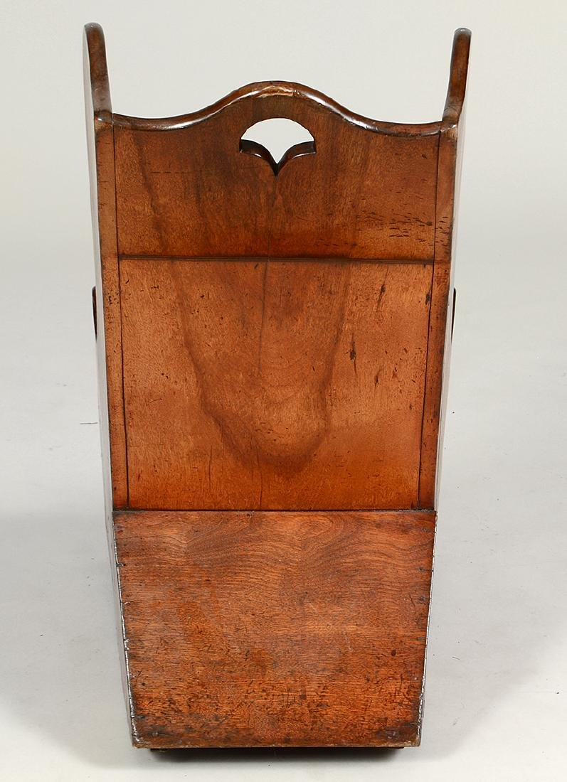 LATE GEOTRGIAN WALNUT CHILD'S COMMODE CHAIR - 5