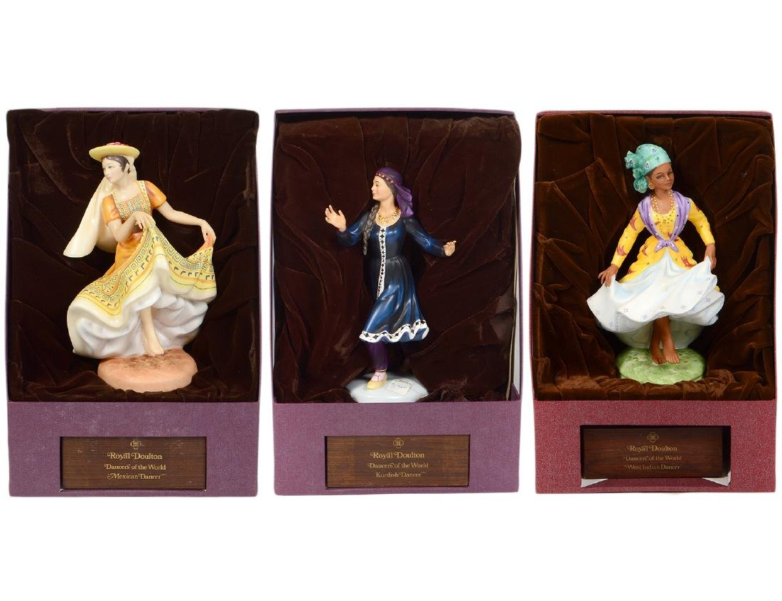 THREE ROYAL DOULTON DANCER OF THE WORLD FIGURINES
