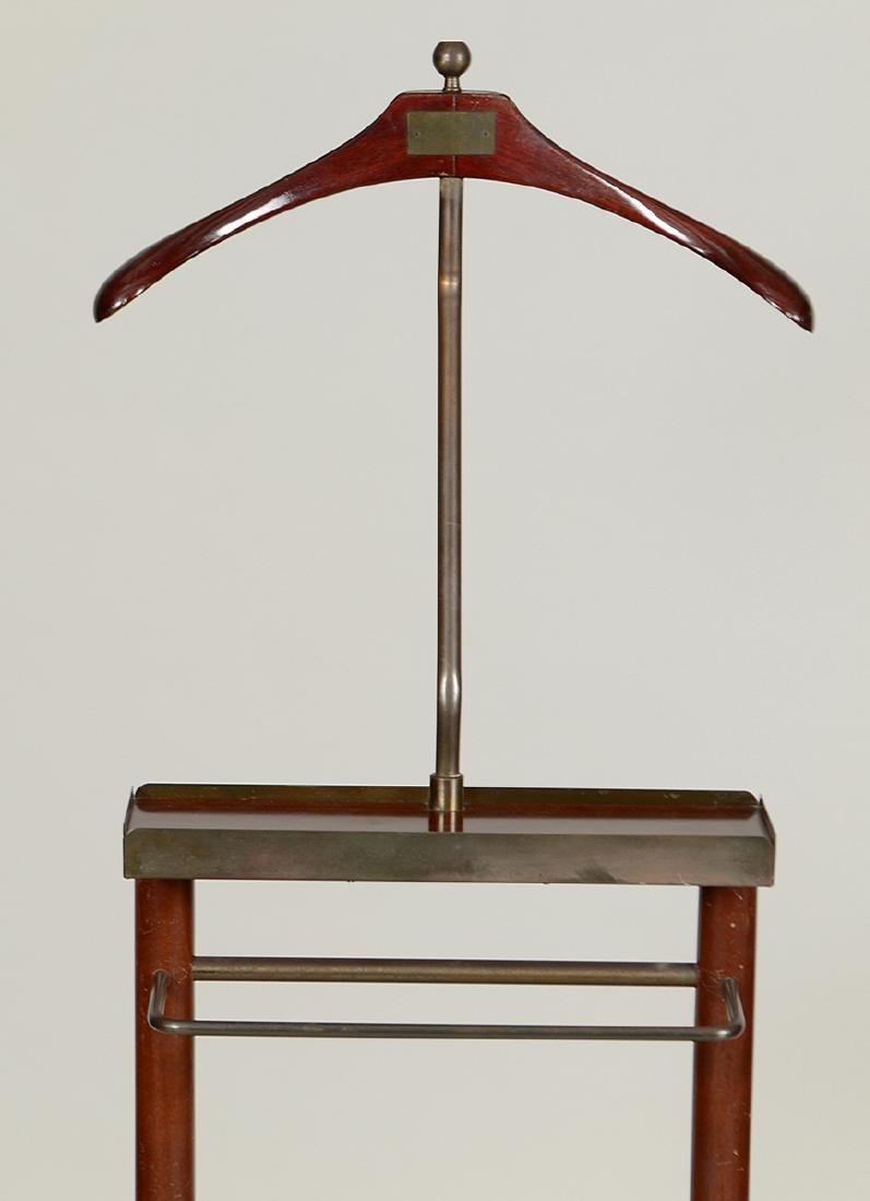 GENTLEMAN'S MAHOGANY AND BRASS VALET STAND - 2