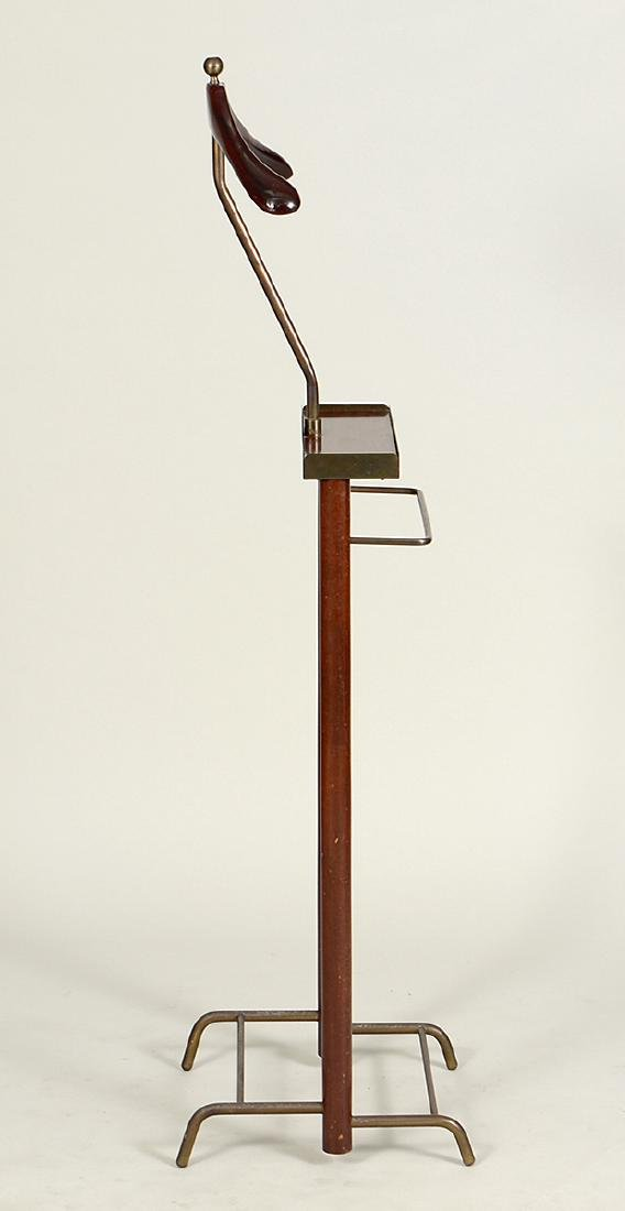 GENTLEMAN'S MAHOGANY AND BRASS VALET STAND - 3