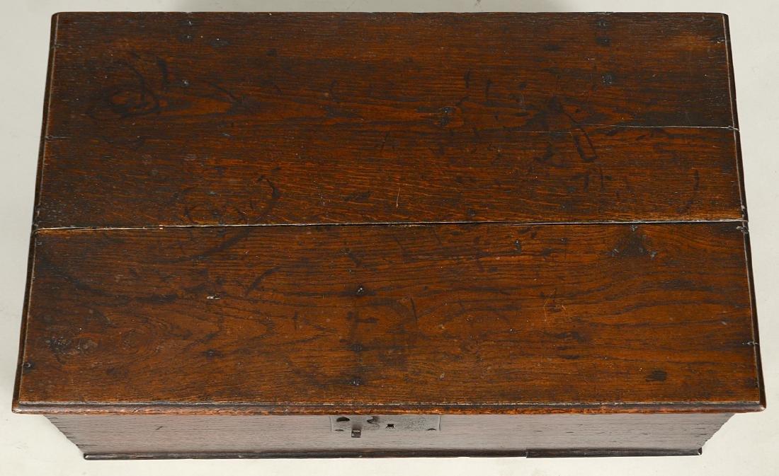 ENGLISH IRON-MOUNTED OAK DOCUMENT BOX - 2