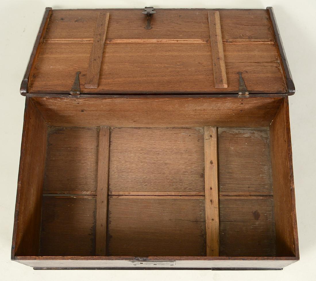 ENGLISH IRON-MOUNTED OAK DOCUMENT BOX - 3