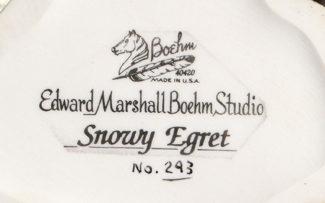 """BOEHM PAINTED PORCELAIN """"SNOWY EGRET"""" - 7"""