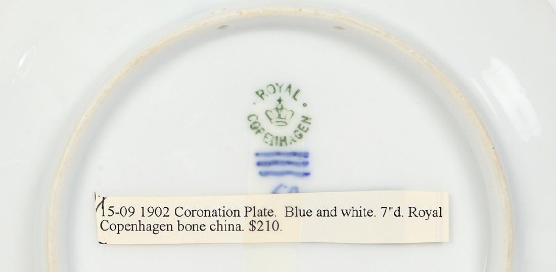 TWO ROYAL COPENHAGEN CORONATION PLATES - 2