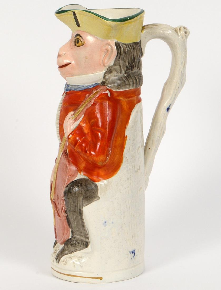ENGLISH PAINTED EARTHENWARE TOBY JUG - 4