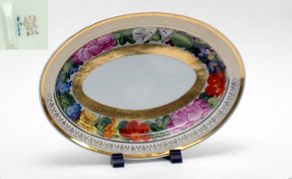 1: KPM Porcelain with Hand Painted Floral Border