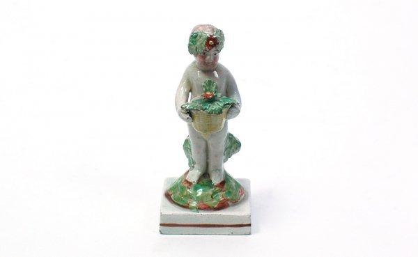 4: Antique Staffordshire Child Figure