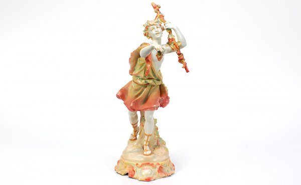 5: German Rudolstadt Marked Porcelain Figurine