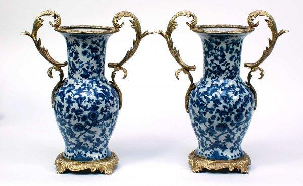 6: Blue Oriental Porcelain Vases