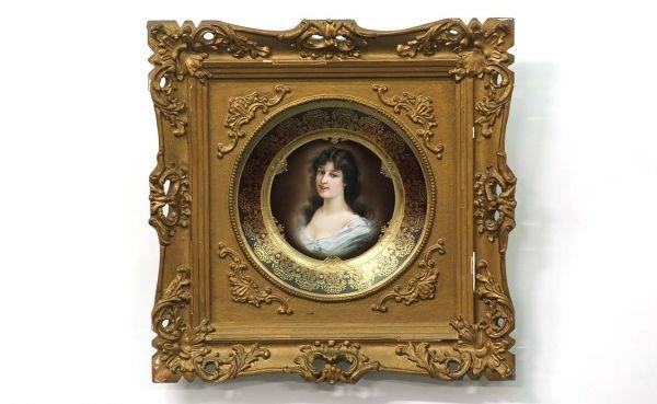 9: Royal Vienna Style Porcelain Portrait Plate