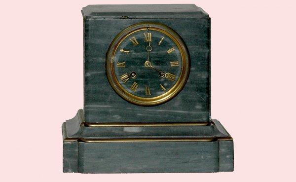 13: Gray Marble Tiffany & Co Mantle Pendulum Clock