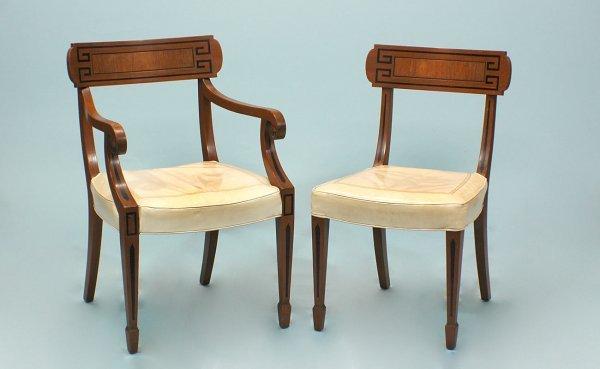 16: Oak Chairs with Greek Key Design
