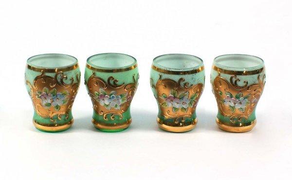 20: Bavarian Enameled and Gilded Liqueur Glasses