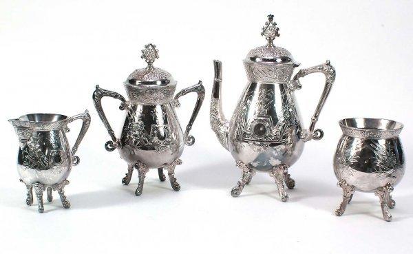 21: American Meriden Quadruple plate Coffee Set