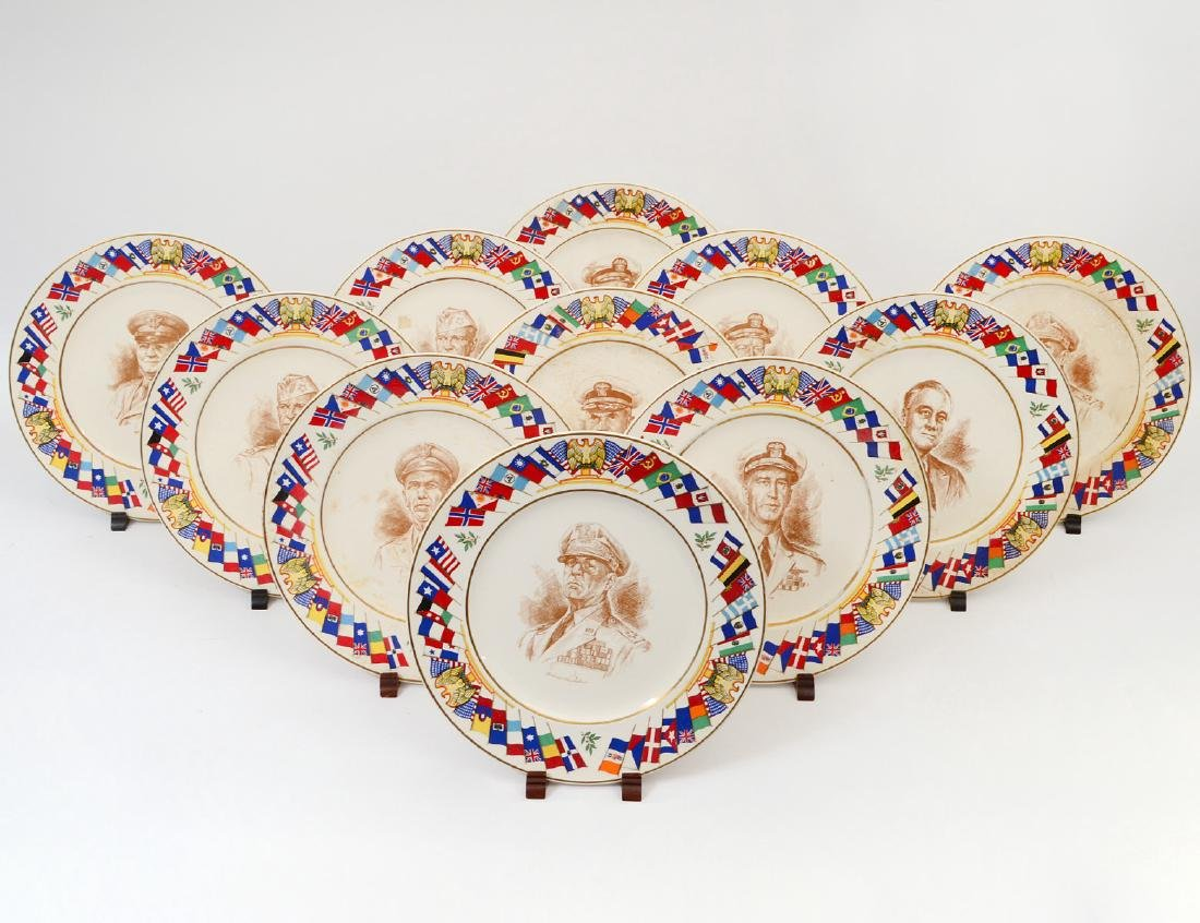ELEVEN ALLIED NATIONS COMMEMORATIVE SERIES PLATES
