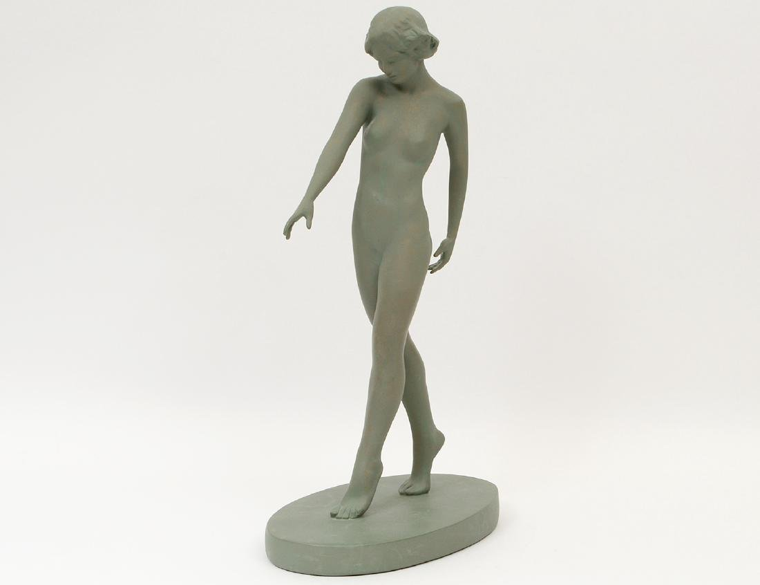 PAINTED PLASTER FIGURE OF A FEMALE NUDE