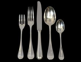 FIFTY-THREE PIECE CHRISTOFLE SILVER PLATE FLATWARE