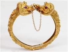 CELLINO HINGED GOLD BANGLE BRACELET