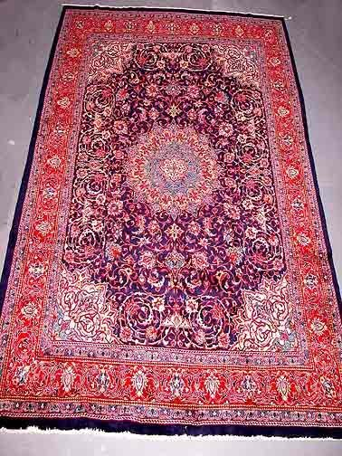 1: Hand Knotted Persian Rug. Overall Good Condition.