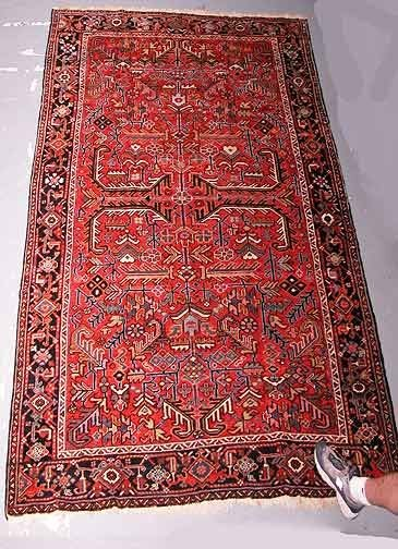 3: Hand Knotted Antique Heriz Persian Rug