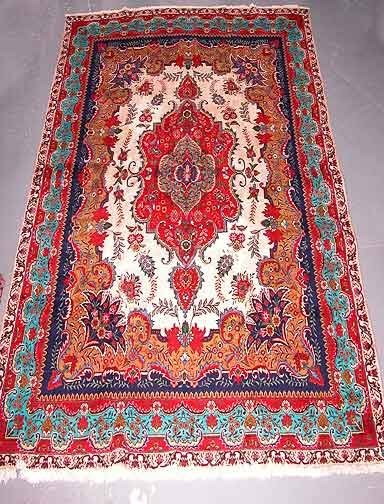 8: Hand Knotted Tabriz Persian Rug.Good Con