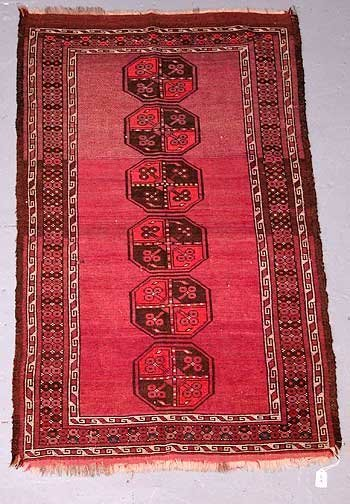 9: Hand Knotted Persian Prayer Rug. Fadin
