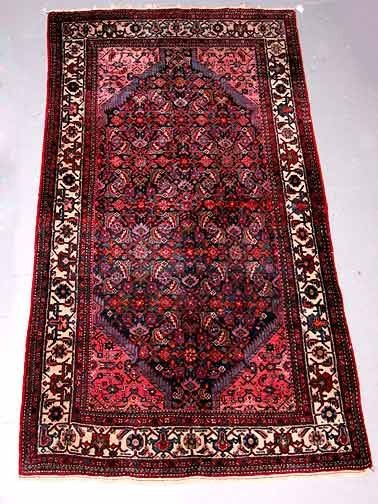 12: Hand Knotted Persian Rug.  Dark Colors Ove
