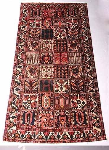 14: Hand Knotted Baktiarri Persian Rug