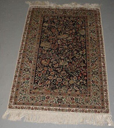 16: Hand Knotted Silk Persian Rug