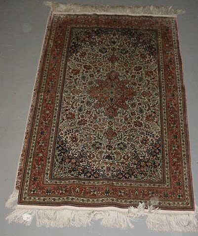 17: Hand Knotted Silk Persian Rug