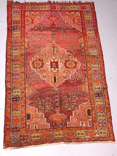 22: Antique Hand Knotted Persian Rug. Restoration