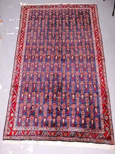 24: Hand Knotted Sarouk Persian Rug.
