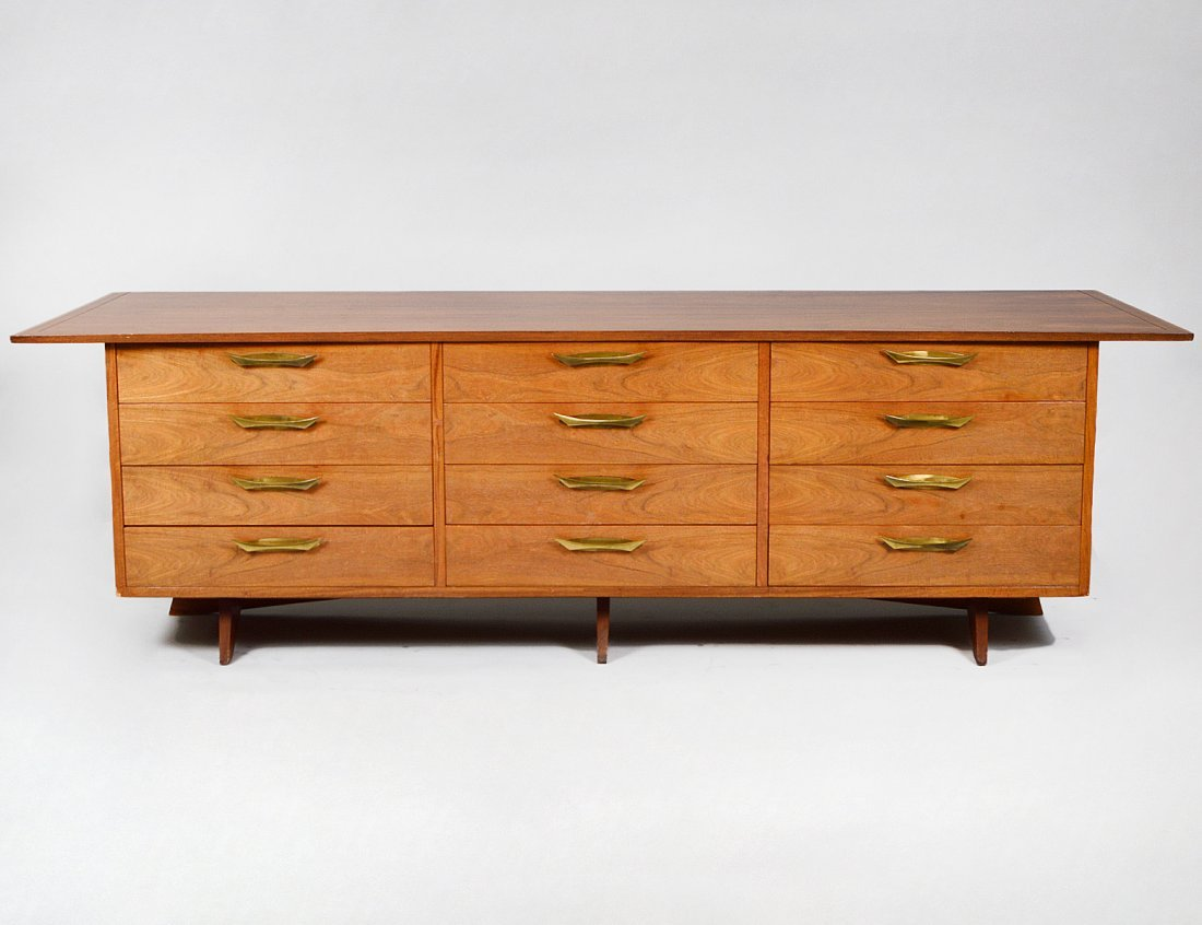 "NAKASHIMA EAST INDIAN LAUREL ""SUNDRA"" LONG DRESSER"