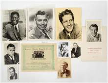 COLLECTION OF AUTOGRAPHED STUDIO PHOTOGRAPHS OF ACTORS