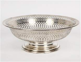 STERLING SILVER RETICULATED FOOTED BOWL