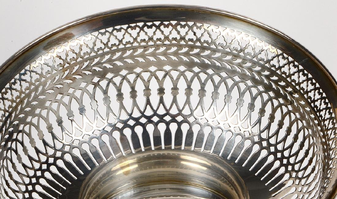 STERLING SILVER RETICULATED FOOTED BOWL - 4