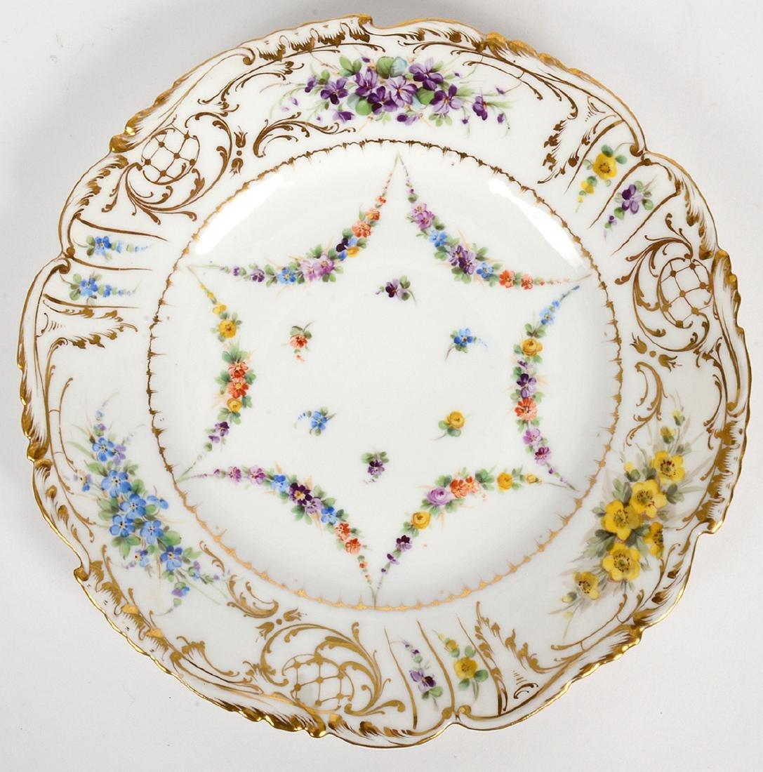 TEN VARIOUS DRESDEN PORCELAIN DINNER PLATES - 4
