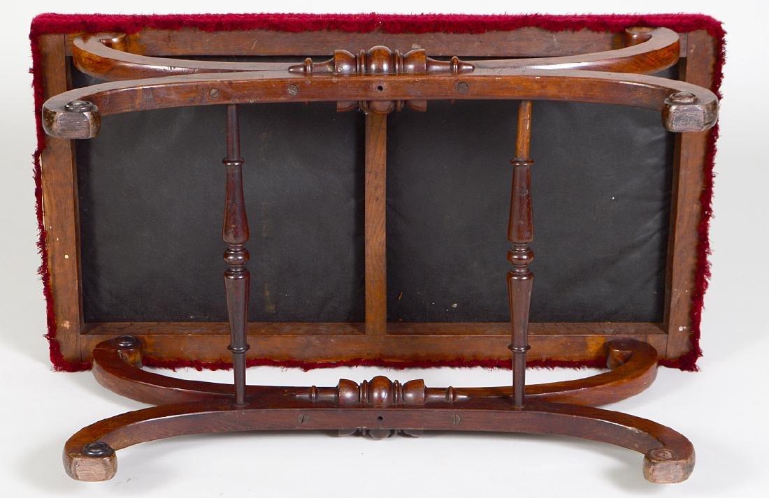 REGENCY ROSEWOOD WINDOW SEAT - 3