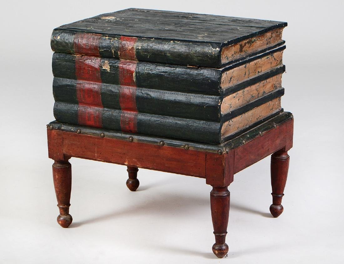 VICTORIAN PAINTED WOOD BOOK TABLE