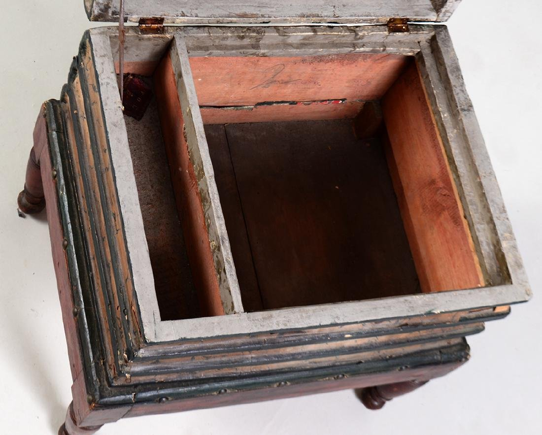 VICTORIAN PAINTED WOOD BOOK TABLE - 3