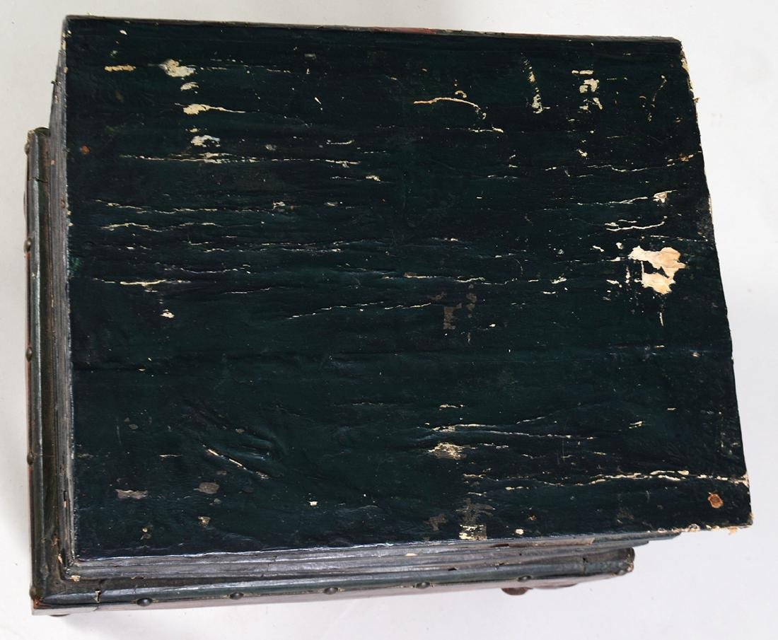 VICTORIAN PAINTED WOOD BOOK TABLE - 4
