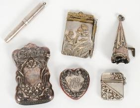 Group Of Silver & Silvered Metal Articles