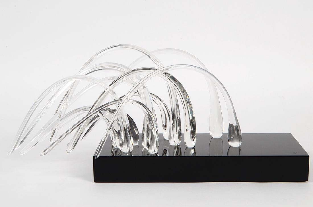 MULTI-PIECE COLORLESS GLASS TABLE SCULPTURE - 3
