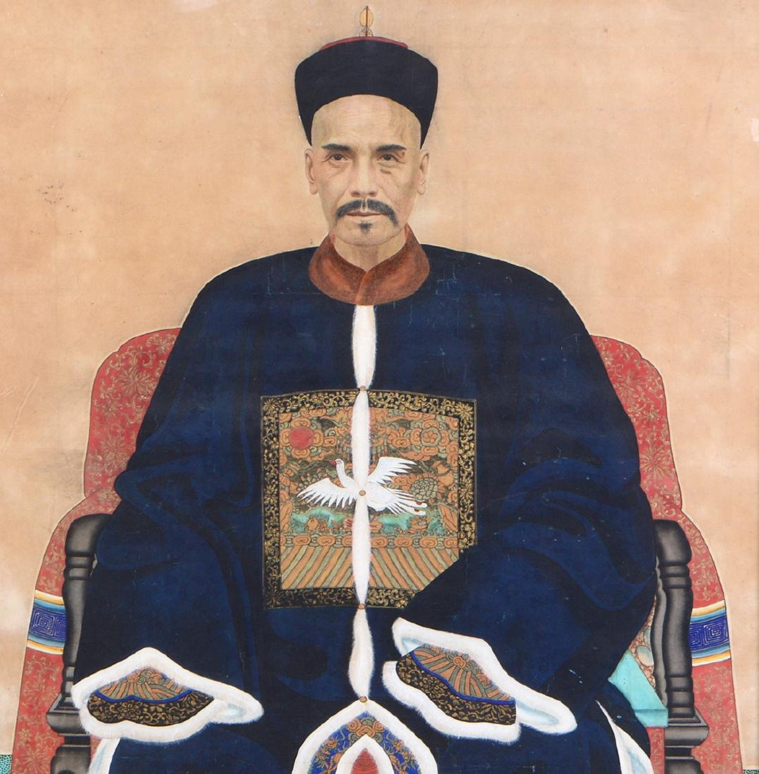 CHINESE 19TH CENTURY ANCESTRAL PORTRAIT OF AN OFFICIAL - 2