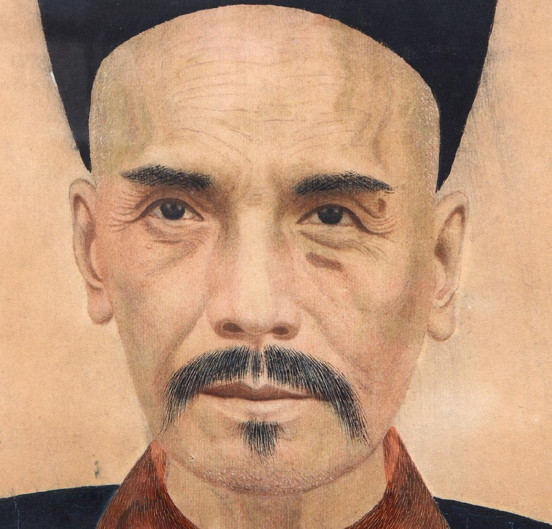 CHINESE 19TH CENTURY ANCESTRAL PORTRAIT OF AN OFFICIAL - 5