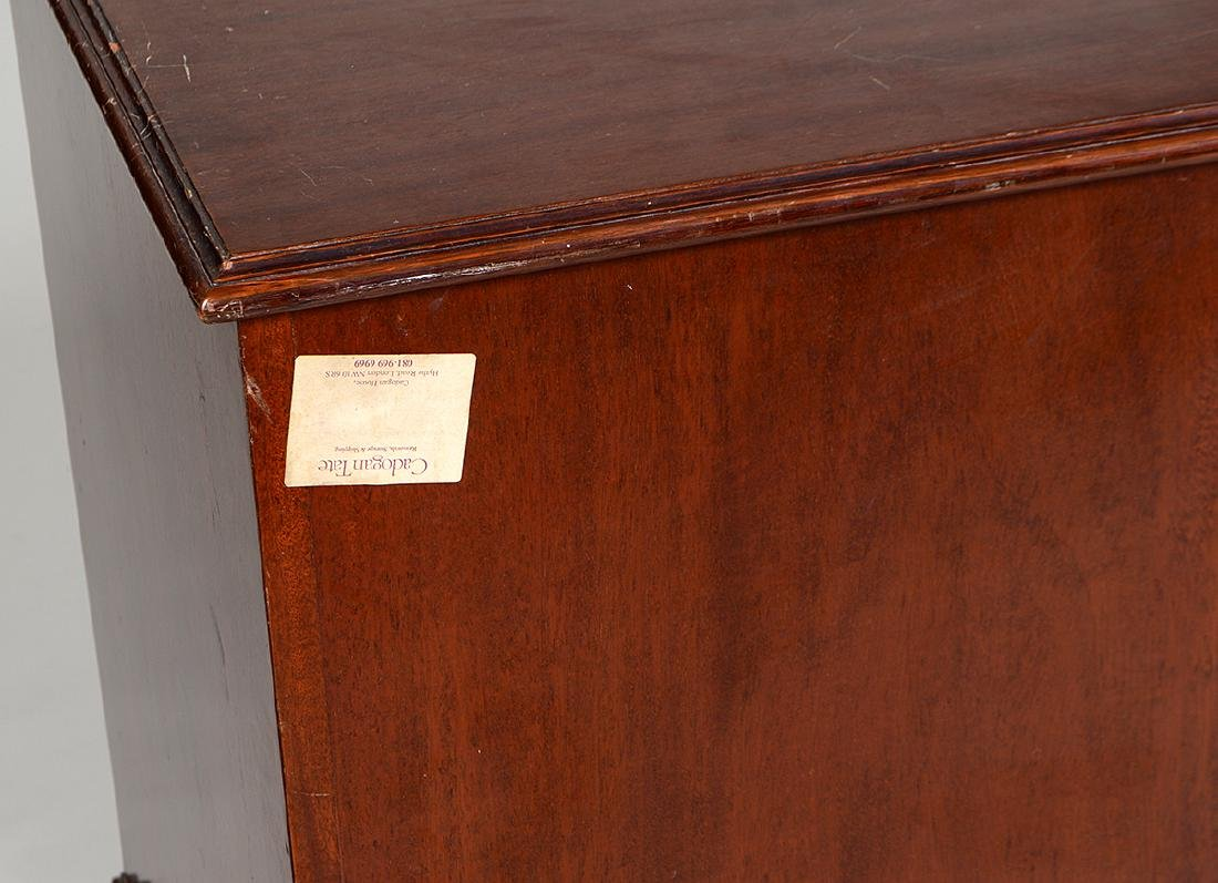 THREE CHIPPENDALE STYLE MAHOGANY FILE CABINETS - 3
