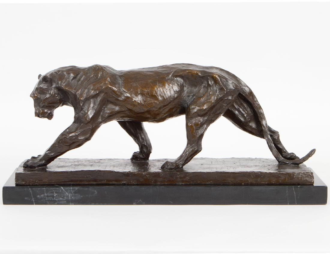 PATINATED BRONZE LIONESS
